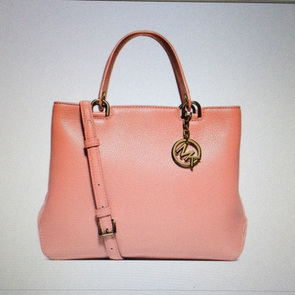 5400c5fcd7e9 Michael Kors Med pink Annabelle Top-Zip tote NWT