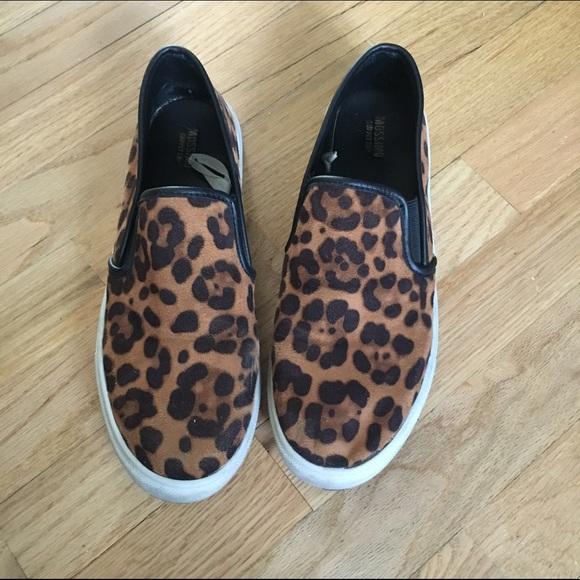 a6be3f20fb04 Merino leopard print slip on sneakers. M 579ad472620ff786d601bb18