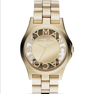 Marc Jacobs Henry Skeleton Gold Bracelet Watch