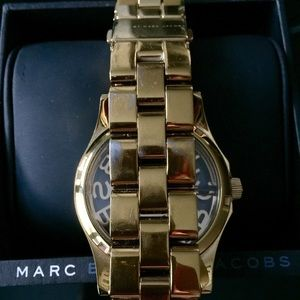 Marc by Marc Jacobs Accessories - Marc Jacobs Henry Skeleton Gold Bracelet Watch
