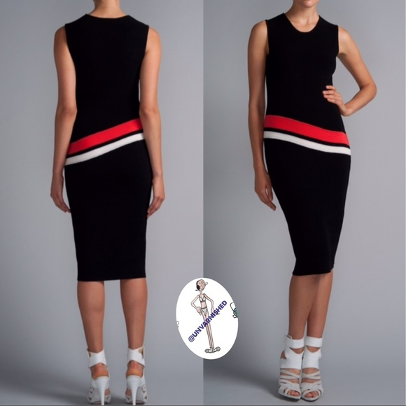 Narciso Rodriguez Dresses & Skirts - Narciso Rodriguez Black Tang Stretch Dress