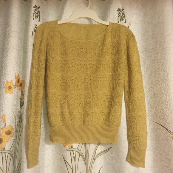 Cute yellowish sweater