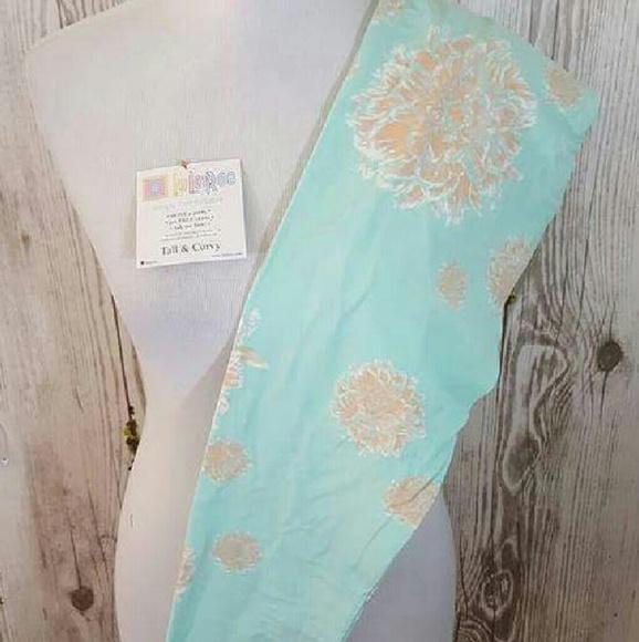 1e9c8c9cd66ca3 Lularoe Pants | Pastel Aqua Blue Floral Leggings Tc Nwt | Poshmark