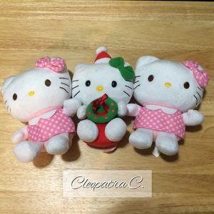 ✨ (3) Hello Kitty Plush Dolls Bundle ✨