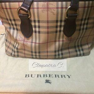 Burberry Haymarket Tote