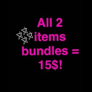 Accessories - On items <15$