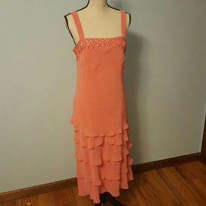 SL Fashions Dresses & Skirts - S.L. Fashions Retro Salmon Pink Shift Dress