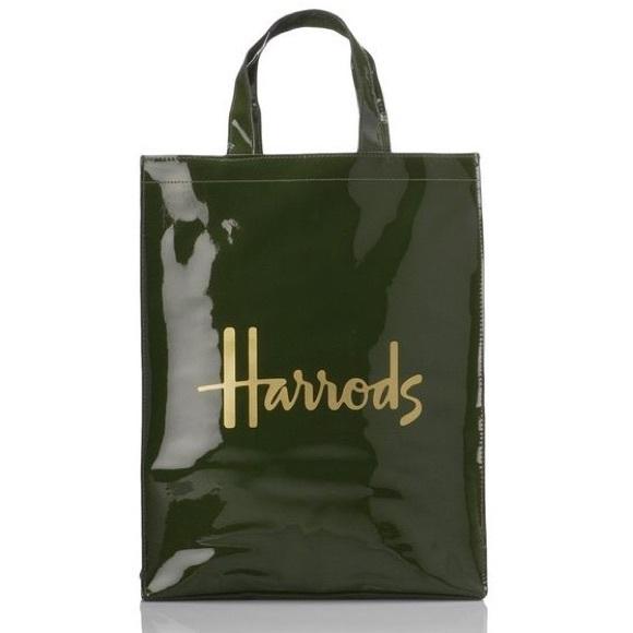 Harrods Bags Nwot Green Tote Bag Poshmark