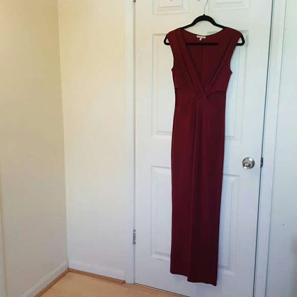 59f27f8057 Charlotte Russe Dresses | Oxblood Colored Maxi Dress | Poshmark