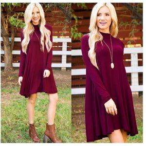 Dresses & Skirts - Wine Shift Dress