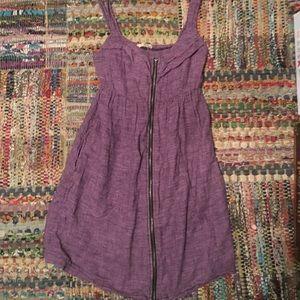 Dresses & Skirts - Purple zipper dress