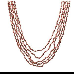 Lucky Brand Jewelry - Red and Gold Beaded Necklace 🆕