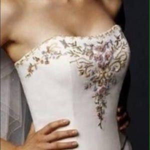 Dresses - Two piece A-line Wedding Dress Size 8