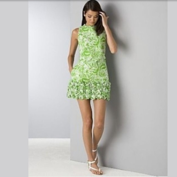 425291cf87f7f4 Lilly Pulitzer Dresses & Skirts - Lilly Pulitzer Lovell Jacquard Green Shift  Dress