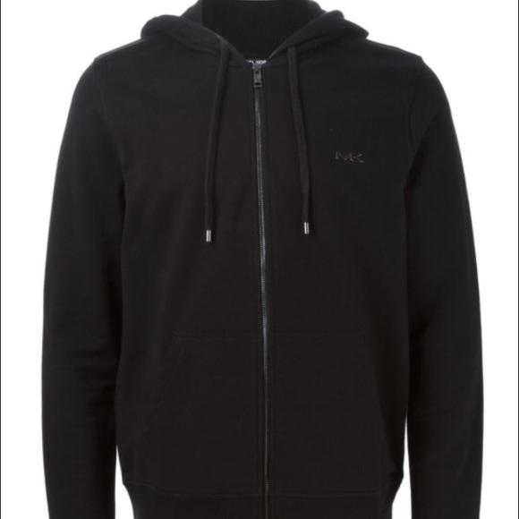 600cdd37acb Michael Kors fur lined zip up black hoodie