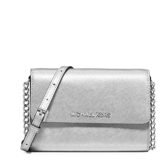 d0cfb006da1 MICHAEL Michael Kors Bags   Silver Michael Kors Mini Shoulder Purse ...