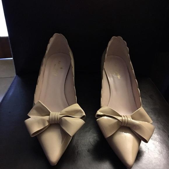 80aeec9c3409 kate spade Shoes - kate spade  Maxine  tan kitten heel patent pump