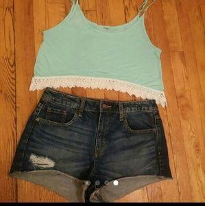 High Rise Shorts & Crop (Large)