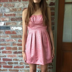 Pink and metallic BCBG formal dress