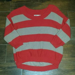Old Navy Sweaters - Coral and beige Old Navy sweater