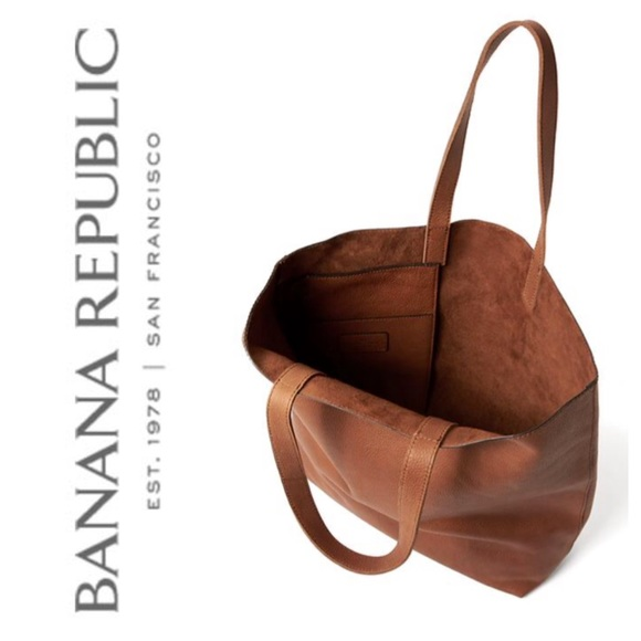 Banana Republic - ‼ FREE SHIPPING BR Cognac Leather Tote Bag ...