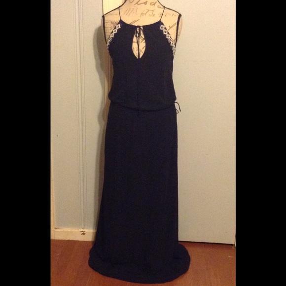 Black beaded maxi dresses