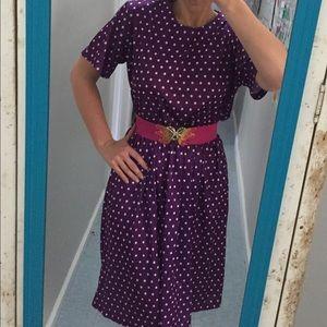 Vintage Purple Polka Dot Dress