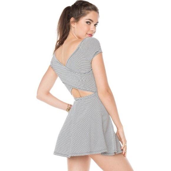 0d1d08f0aec Brandy Melville Dresses   Skirts - Brandy Melville Striped Open Back Skater  Dress