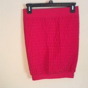 Sexy Red Mini Tight Skirt