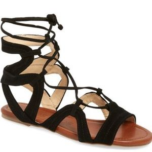 Sole Society Shoes - Sole Society 'Beirut' Lace-Up Sandal, size 7.5