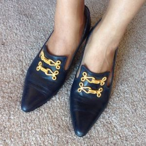 Bally Shoes - Rare Bally dark blue leather shoes