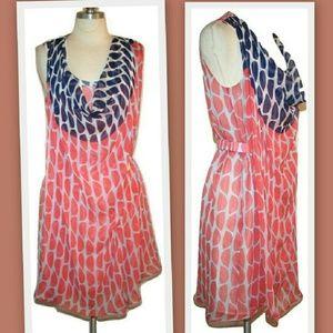 Diane von Furstenberg Dresses & Skirts - DVF 'Naira' Silk Chiffon Dress in Bis Slice