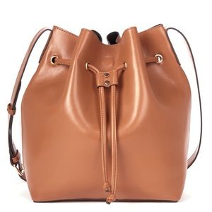 Sole Society Handbags - Sole Society drawstring bucket bag, faux leather