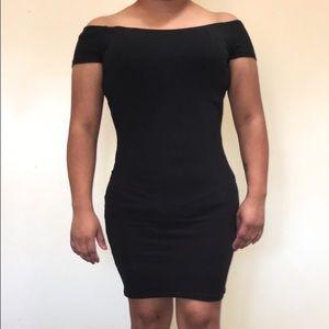 Off the Shoulder Dress Black
