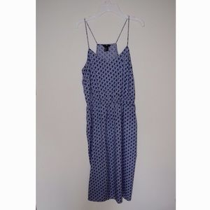 Blue H&M Patterned Midi Dress