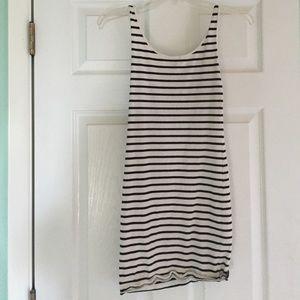 Basic Striped Mini Dress