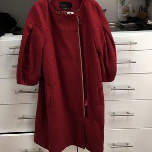 NWT BCBG MaxAzria burgundy  wool coat