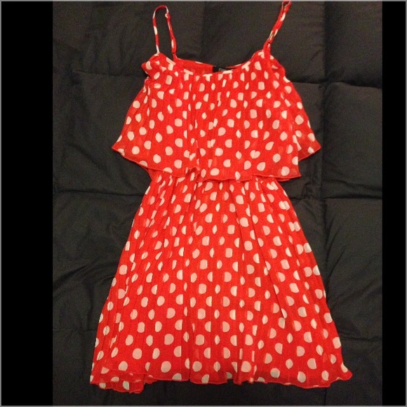 a6c55d976d9b Forever 21 Dresses & Skirts - Red and White Polka Dot Dress - Forever 21