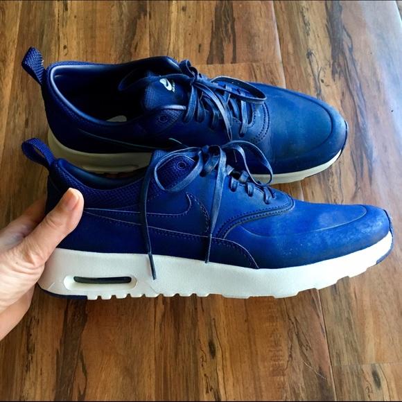 98268a15a9 Nike Air Max Thea Premium Blue worn for one hour. M_579bb0cdbf6df5dab704b72a