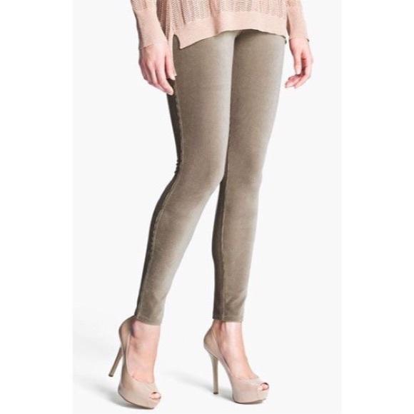 47d111249023a HUE Pants | Khaki Cord Leggings | Poshmark