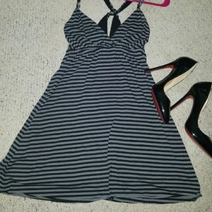 Open End Dresses & Skirts - Black and gray dress👠💞