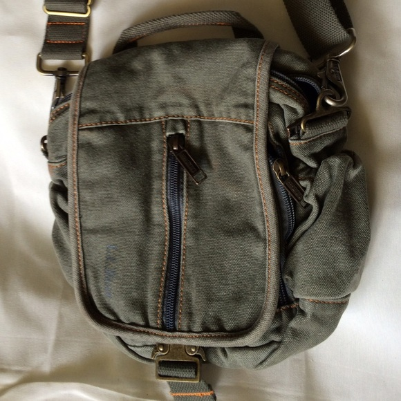 Ll Bean Bags Green Canvas Small Crossbody Bag Poshmark