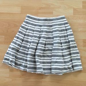 NWOT Gap A Line Striped Cotton Skirt