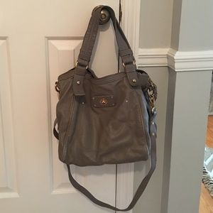 Marc by Marc Jacobs Gray Leather Crossbody Satchel