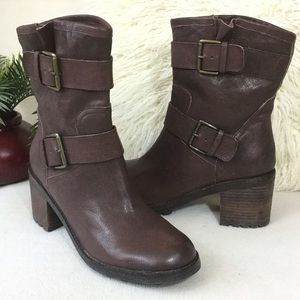 Sam Edelman BRAND NEW brown leather mid boots