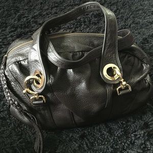 Handbags - Golden Bleu Leather Bag