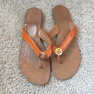 Tory Burch Reva Orange Sandals