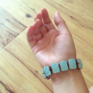 J. Crew Jewelry - Glass stone bracelet