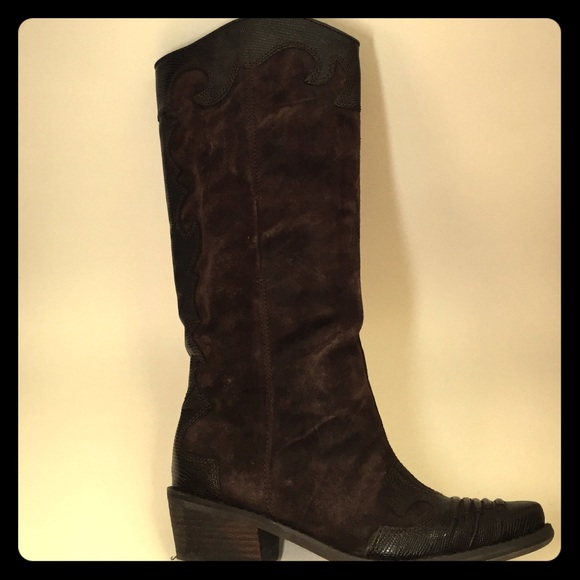 ac119b8280e Franco Sarto Willow Western Cowboy Boots