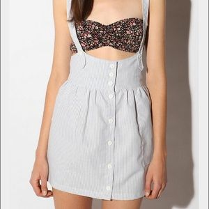 Urban Outfitters Chambray Suspender Dress